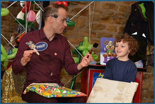 Kids entertainer Magic Philip is based in Manchester