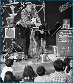 Magic Philip is a kids entertainer in Manchester doing magic show at a party