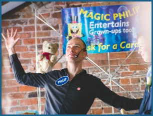 Top Manchester children's entertainer Magic Philip